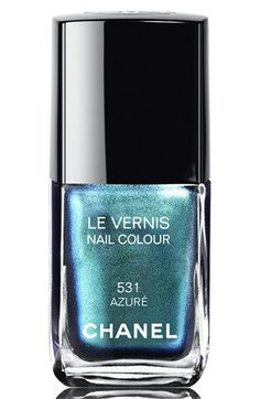 CHANEL LE VERNIS NAIL COLOUR | Nordstrom - If you can't getaway this year, at least let your nails be drowned by the azure colour of the ocean.