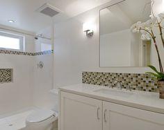 99 best bathroom images shower caddies shower storage bathroom rh pinterest com Metal Accent Tiles for Backsplash Accent Tile Backsplash with 3 X 6 Subway Tile