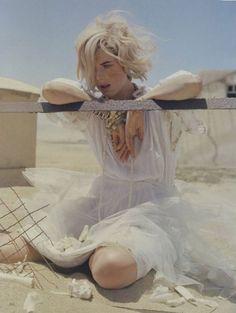 Tim Walker photographs Agyness Deyn in Namibia for Vogue UK