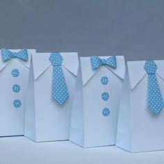 Little Man Blue Polka Dots Bow Tie - Tie Favor Bag-Baby Shower Candy Bag-Baby Shower Party Favor Bag-Boy First Birthday Party Bag- Set of 12 - These listing is 12 adorable white favor bags for your next baby shower event. Baby Shower Candy, Baby Shower Party Favors, Party Favor Bags, Baby Shower Parties, Baby Boy Shower, Baby Showers, Baby Shower Gift Bags, Goodie Bags, Favor Boxes