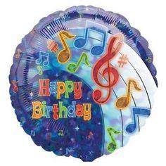 Music Note Birthday Balloon