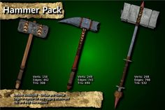 Medieval Hammer Pack has just been added to GameDev Market! Check it out: http://ift.tt/1JWCBUO #gamedev #indiedev