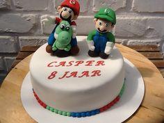 Super Mario, Luigi en Yoshi taart voor Casper.