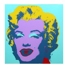 Colorful Marilyn Monroe made by Sunday B. Morning Authorzied Andy Warhol Reproductions.