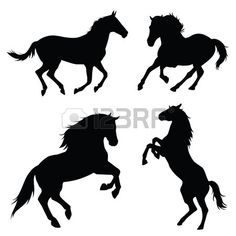 paard silhouet illustratie set Stockfoto - 43527503