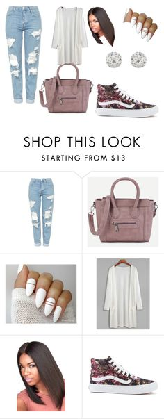 Roses by queennicki1019 on Polyvore featuring Topshop, Vans and Accessorize