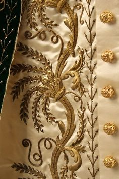 Embroidered detail of the Russian Court dress ~ ca.1900                                                                                                                                                                                 More