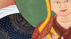 #Thanbhochi detail: #24k patterns come to life around Je Tsongkhapa.  Create your masterpiece with #ColoringForMeditation by Tashi Dhargyal. www.ColoringForMeditation.com #Gelug #tibetanart #thangka # tibetanthangka