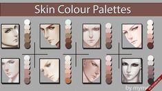 Skin Palette for MyPaint by MeryAlisonThompson on DeviantArt Digital Painting Tutorials, Digital Art Tutorial, Art Tutorials, Digital Paintings, Skin Color Palette, Palette Art, Color Palettes, Skin Colors, Coloring Tutorial