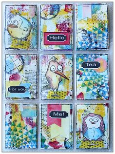 Mixed Media Pocket Letter by @mina974 using COlourArte products and Bird crazy…