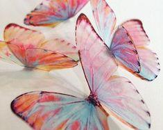 Butterfly Nursery, Butterfly Wall Decor, Butterfly Decorations, Unicorn Wings, Rainbow Butterfly, Paper Butterflies, Butterfly Watercolor, 3d Wall Art, Nursery Wall Decor