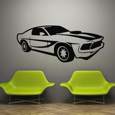 Wall decal decor decals art sticker cars race by DecorWallDecals, $28.99