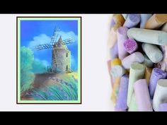 Видео урок Рисуем Мельницу Пастелью #Dari Art - YouTube