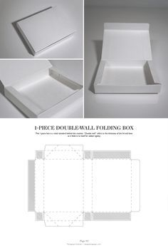 Double-Wall Folding Box - Packaging & Dielines: The Designer's Book of Packaging Dielines by silvia Packaging Dielines, Brand Packaging, Packaging Design, Packaging Ideas, Box Packaging Templates, Box Templates, Retail Packaging, Diy Paper, Paper Crafts
