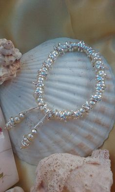 Personalized and Custom Jewelry  White pearls Thank you