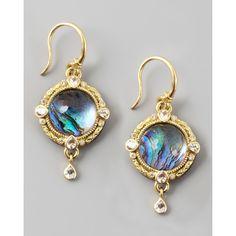 Armenta Midnight Round Earrings ($2,680) via Polyvore