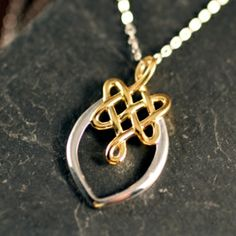 Eternity Knot Marquis Necklace