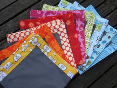 Napkins. Why buy napkins when you have dozens of boxes of fabric?