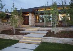 step lighting in formal landscape - Google Search
