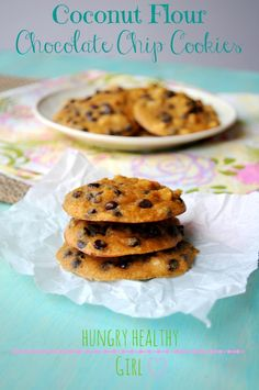 Coconut Flour Chocolate Chip Cookies {gluten-free and Paleo} | Hungry Healthy Girl