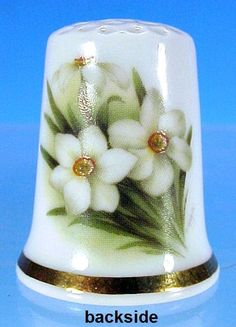 Vintage KÖNIG PORZELLAN Porcelain Thimble