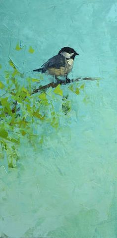 Black Capped Chickadee No. 2 by Rebecca Kinkead