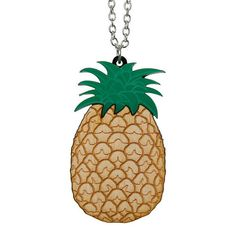 Pineapple necklace  laser cut acrylic  The by sugarandvicedesigns, £12.00