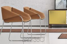 Simply Leather Dining Chair by Tonin Casa
