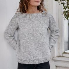 Knithouse Blokhus-trøje Sweater Knitting Patterns, Easy Knitting, Knitting Stitches, Knit Patterns, Knitting Socks, Knit Fashion, Knit Crochet, Sweaters, Ideas