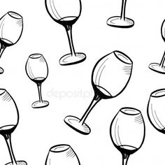 Hand drawn black glasses on white. Glasses Sketch, 3d Texture, Hand Sketch, Vector Background, Embroidery Ideas, Birds In Flight, Hand Drawn, Wine Glass, Beaded Jewelry