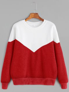 Color Block Drop Shoulder Seam Sweatshirt — 0.00 € --------------color: White size: L,M,XL,XXL