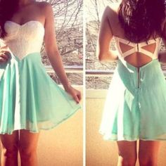 teal blue high low skirt | ... skirt prom dress formal dress pretty, teal, white teal, mint, white
