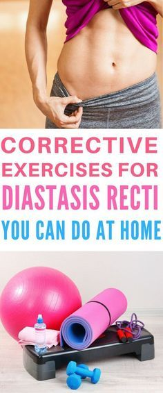 Diastasis Recti Exercises - Diastasis recti or separated abdominal muscles can take some time to repair. But luckily, there are plenty of workouts you can do at home to help correct your diastasis recti. Click through for a great video you can do at home!