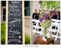 chalkboards » lindsay letters  | melissa + craig, photographed by The Youngrens