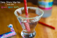 Dime Store Martini Recipe made with Three Olives Tartz Vodka