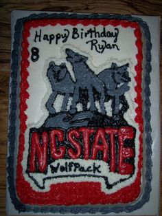 NC State Wolfpack Cake
