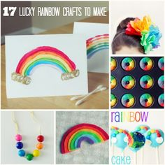 17 DIY Lucky Rainbow Crafts to Make arcobaleno Diy Projects For Kids, Crafts For Kids To Make, Art For Kids, Craft Projects, Craft Ideas, Spring Crafts, Holiday Crafts, Holiday Fun, Sant Patrick