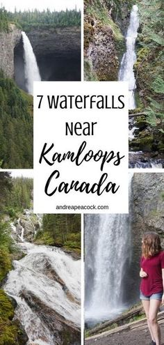 This Kamloops, British Columbia waterfall guide includes seven incredible waterfalls in Wells Gray Provincial Park and Chase, B. Canadian Travel, Canadian Rockies, Places To Travel, Places To Visit, Canada Destinations, Waterfall Features, Western Canada, Travel Humor, Oregon Coast