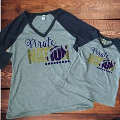 Pirate Nation V Neck Raglan (6mth-Adult)