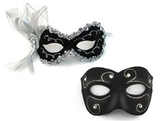 a0363e5d2935 Angelina (FEMALE) is a Fashion mask is hand-painted with glittery swirls  edged