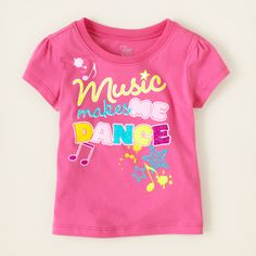 baby girl - graphic tees - music dance graphic tee | Children's Clothing | Kids Clothes | The Children's Place