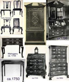 Items of Georgian furniture from Fool Me Twice. Baroque Furniture, Georgian Furniture, Find Furniture, Furniture Styles, Home Furniture, Furniture Design, Georgian Interiors, Georgian Homes, Georgian Era