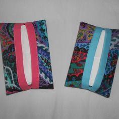 Etuis à mouchoirs  tissu multicolore