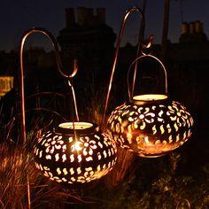 pair of floral lanterns by london garden trading   notonthehighstreet.com