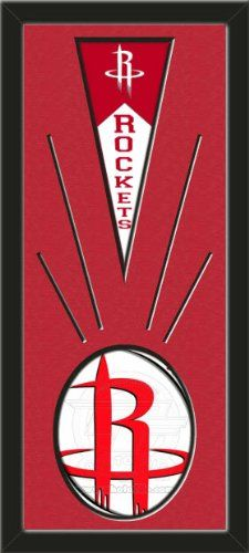 Houston Rockets Wool Felt Mini Pennant & Houston Rockets Team Logo Photo - Framed With Team Color Double Matting In A Quality Black Frame-Awesome & Beautiful-Must For A Championship Team Fan! Most NFL, MLB, NBA, Teams Available-Plz Mention In Gift Message If Need A different Team Art and More, Davenport, IA http://www.amazon.com/dp/B00I2OBY2O/ref=cm_sw_r_pi_dp_1dtEub1SYM75D