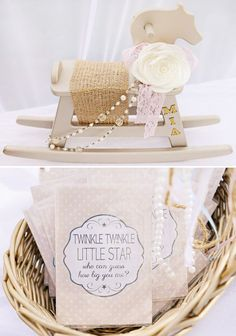 Twinkle, Twinkle Little Star Baby Shower - Vintage Rocking Horse Centerpiece