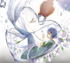 Sirène et flacon cœur