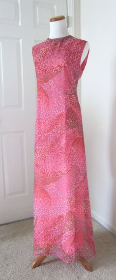 Vintage 1970s Maxi Cocktail Dress Nat Kaplan Couture by TenderLane, $98.00