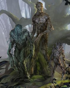 Dungeons and Dragons (D&D) Fifth Edition Monster - Twig Blight - Twig blights can root in soil, which they do when living prey are scarce. Fantasy Races, Fantasy Rpg, Fantasy World, Dark Fantasy, Forest Creatures, Fantasy Creatures, Mythical Creatures, Forgotten Realms, Dungeons And Dragons