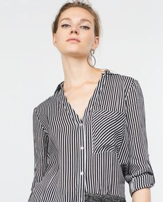 Image 3 of STRIPED SHIRT from Zara
